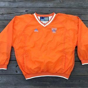 Adidas Women Orange Jersey Long Sleeve Athletic T